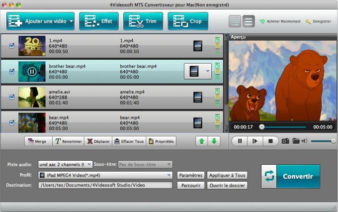 4Videosoft MTS Convertisseur pour Mac