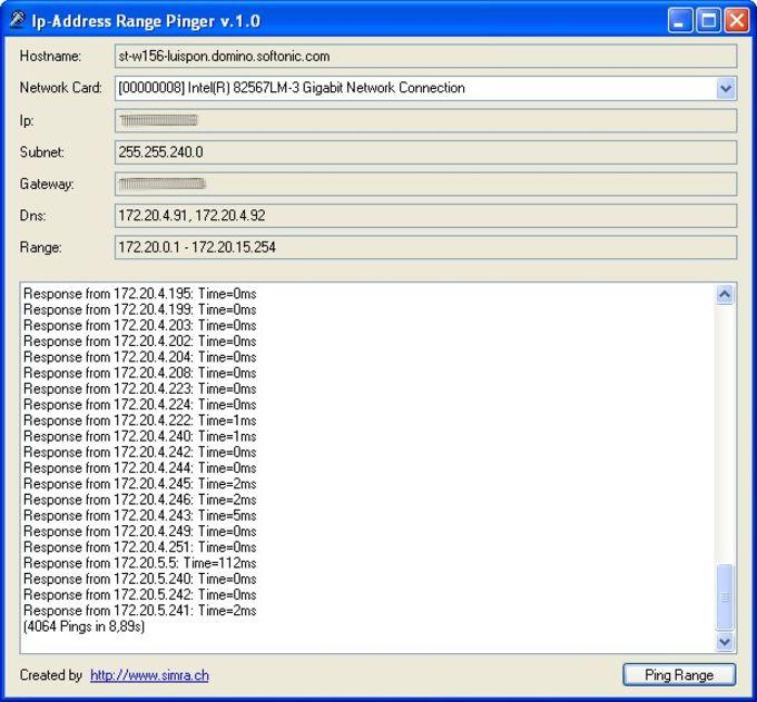 IP-Address Range Pinger