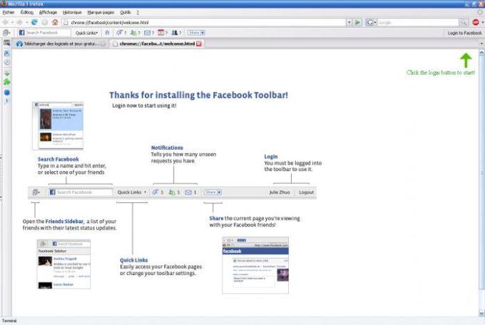 Facebook Toolbar pour Firefox