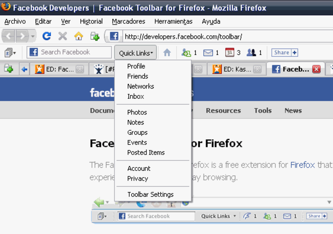Facebook Toolbar