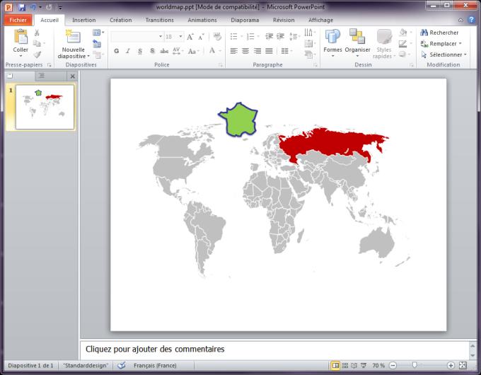 Free Editable Worldmap for Powerpoint Slides