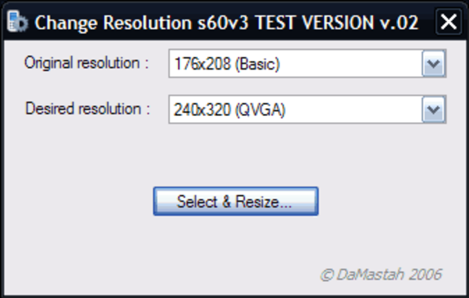 Change Resolution s60v3