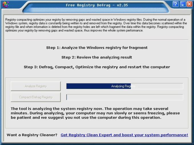Portable Free Registry Defrag
