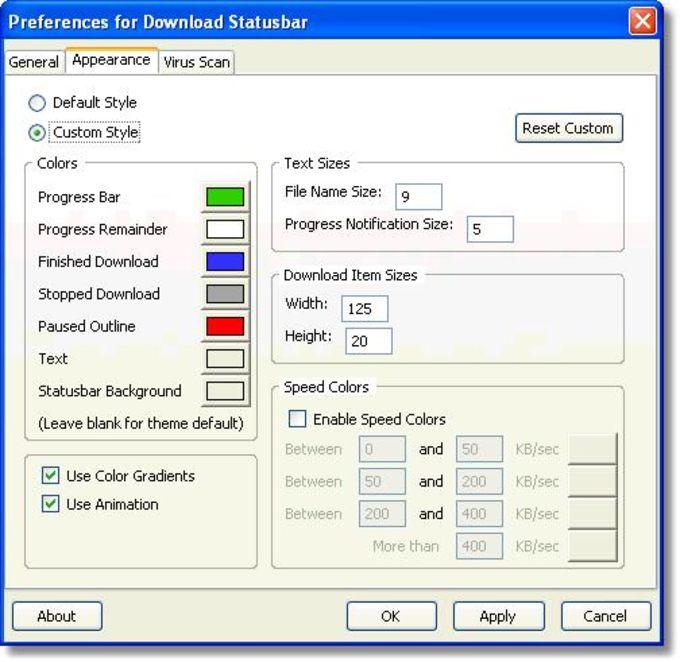 Download Statusbar Extension