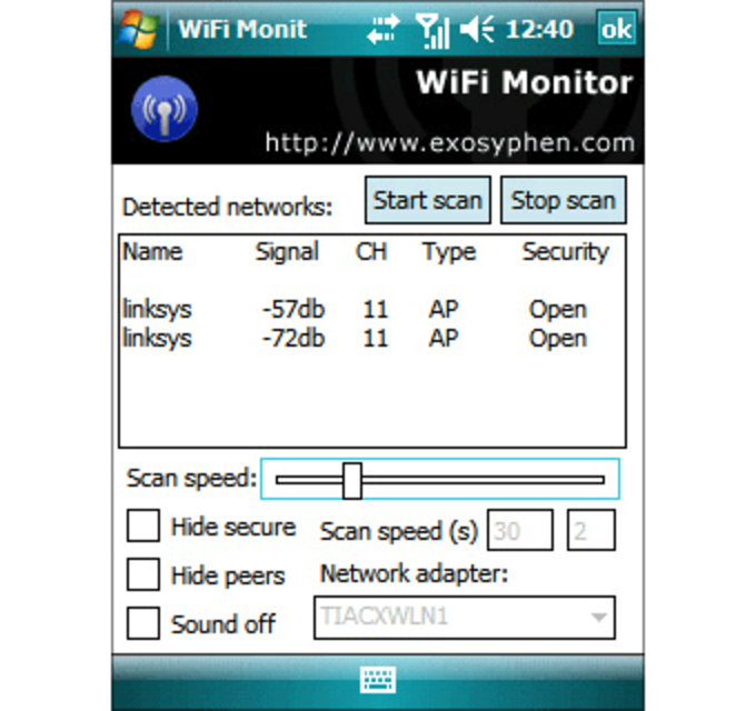 PocketPC WiFi Monitor