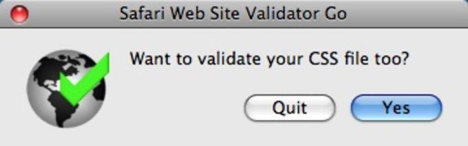 Safari Web Site Validator
