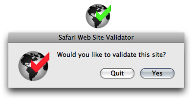 Safari Web Site Validator