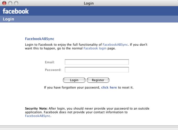 FacebookSync