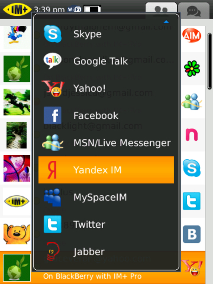 IM+ Instant Messaging for BlackBerry