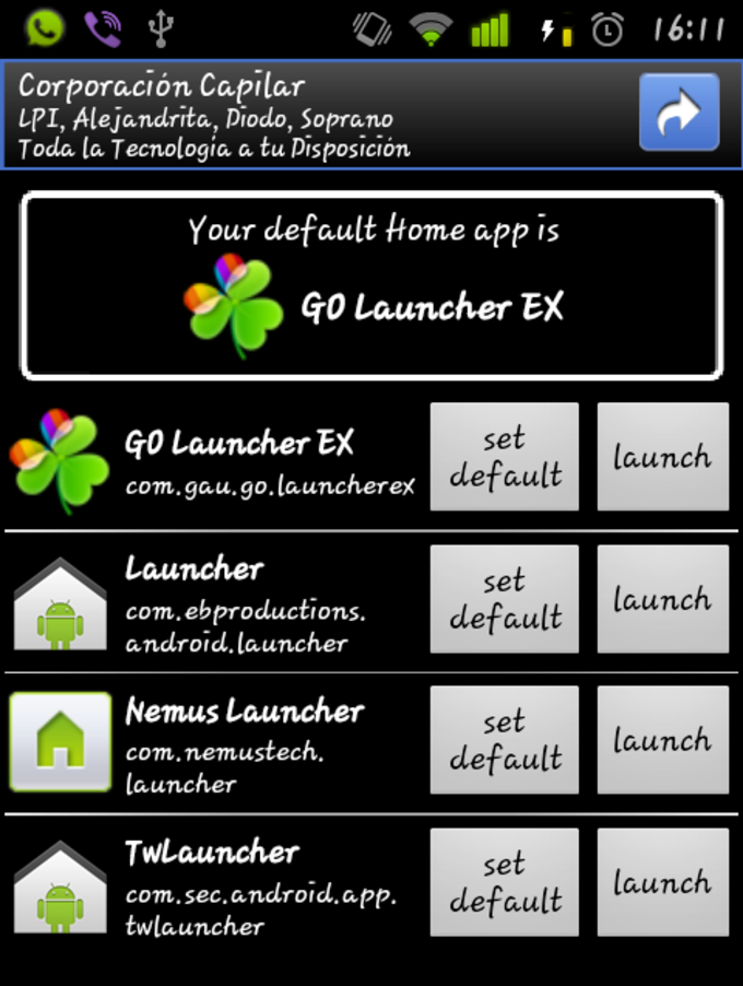 Home Switcher para Froyo
