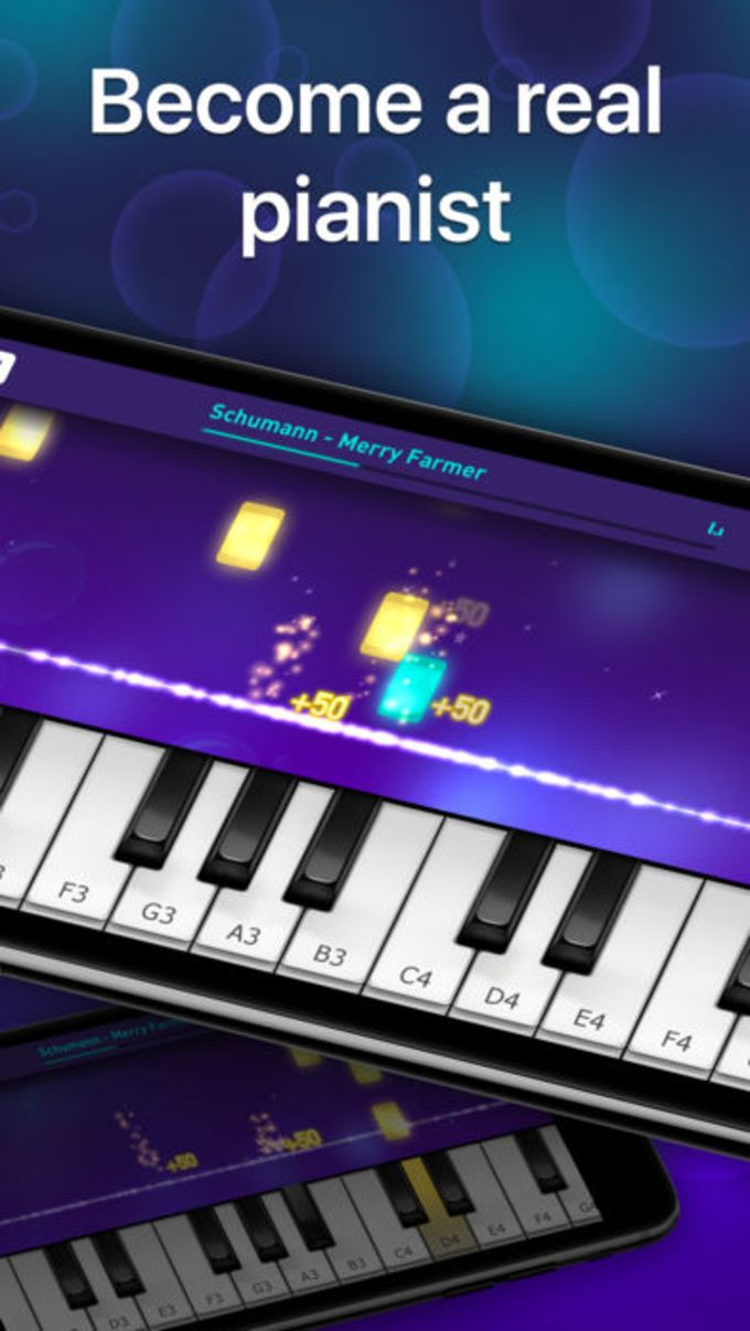 Piano keyboard - play music