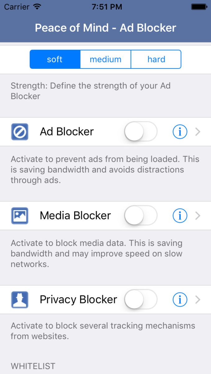 Peace of Mind - Ad and Content Blocker