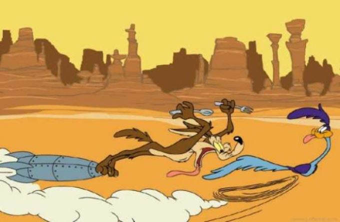 Looney Tunes Coyote & Roadrunner Wallpaper