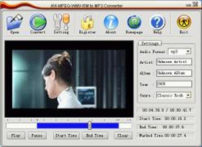 AVI MPEG WMV RM to MP3 Converter