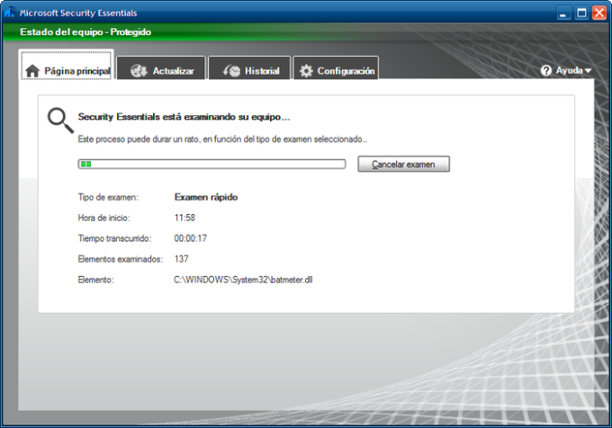 Microsoft Security Essentials para Windows Vista / 7