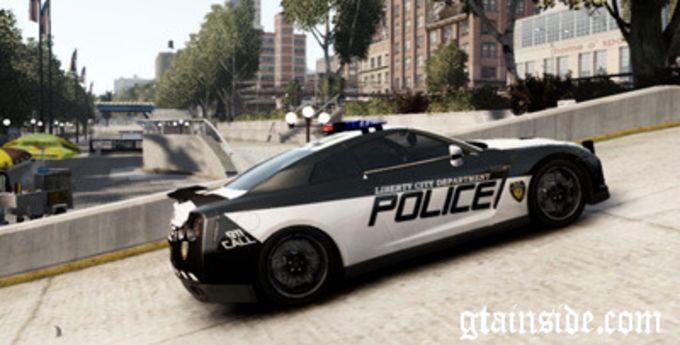GTA IV Nissan GTR R35 Police Car Mod
