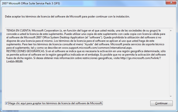 Service Pack 3 para Microsoft Office 2007