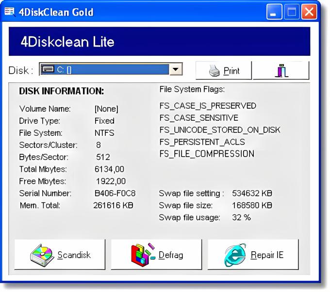 4DiskClean Lite