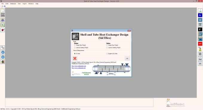 Shell and Tube Heat Exchanger Design v1.6.0