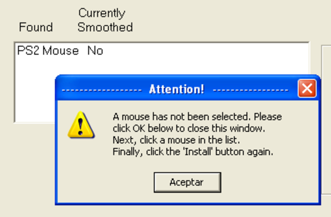 IBM Mouse Smoothing Software