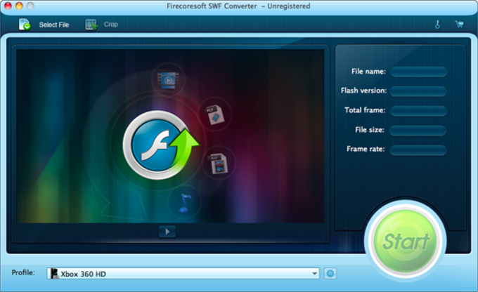 Firecoresoft SWF Converter for Mac
