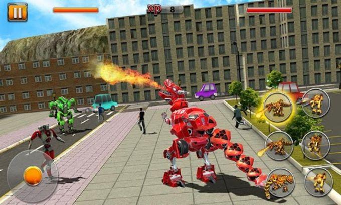 Scary Dino Robot 3D : City Battle 2018