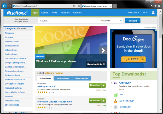 internet explorer software free download for pc