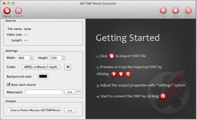 AST SWF Converter for Mac