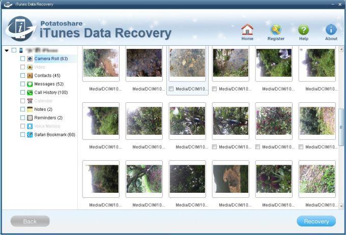 Potatoshare iTunes Data Recovery