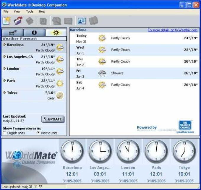 World Mate 2005  & Desktop