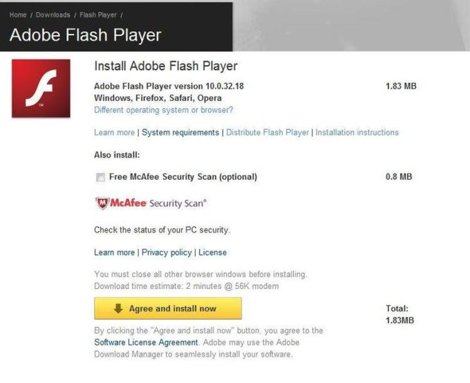 flash player last version free download windows 7