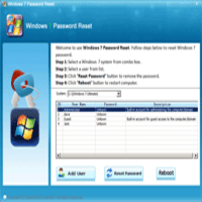 Asunsoft Windows 7 Password Reset (Windows)
