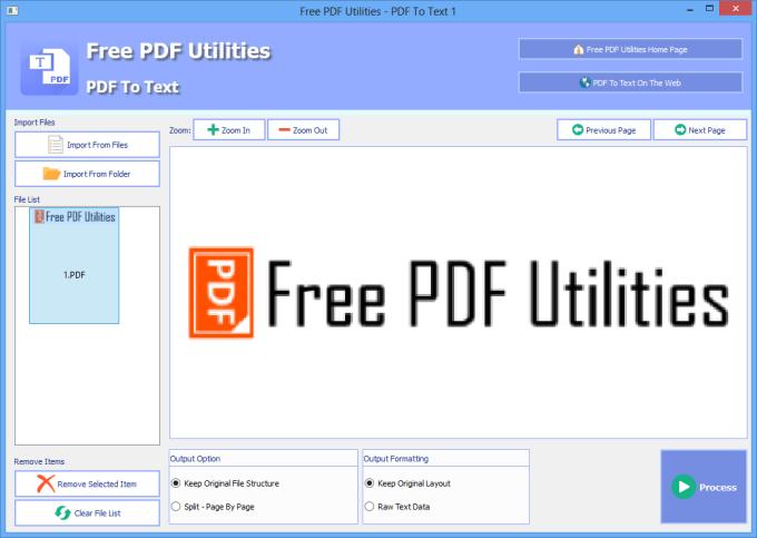 Free PDF Utilities - PDF To Text