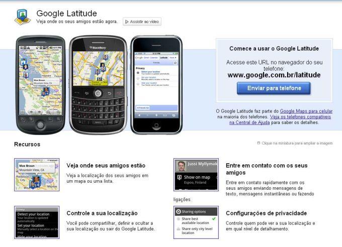 localizador de celular google latitude