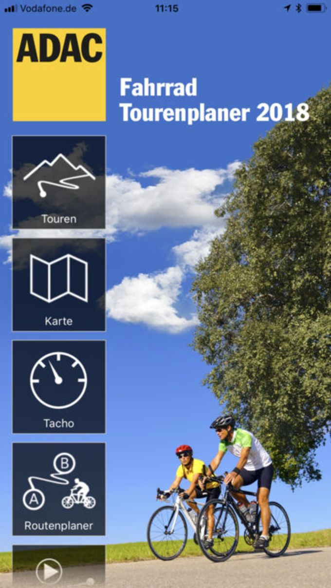 ADAC Fahrrad Tourenplaner 2018