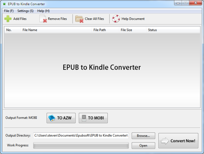 EPUB to Kindle Converter