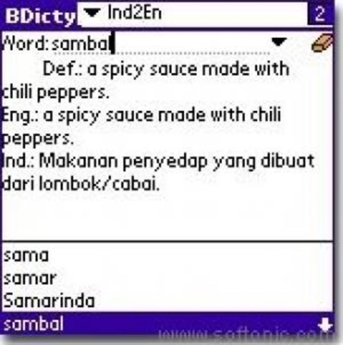 Indonesian to English for BDicty