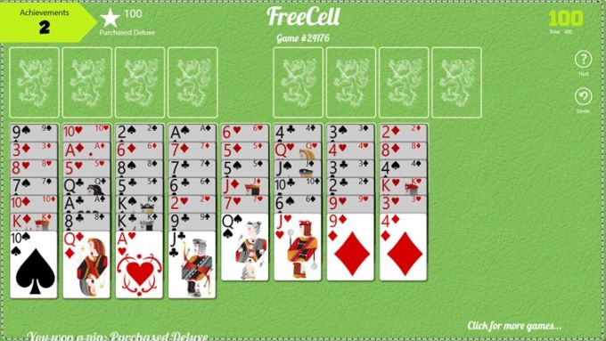 FreeCell Free pour Windows 10