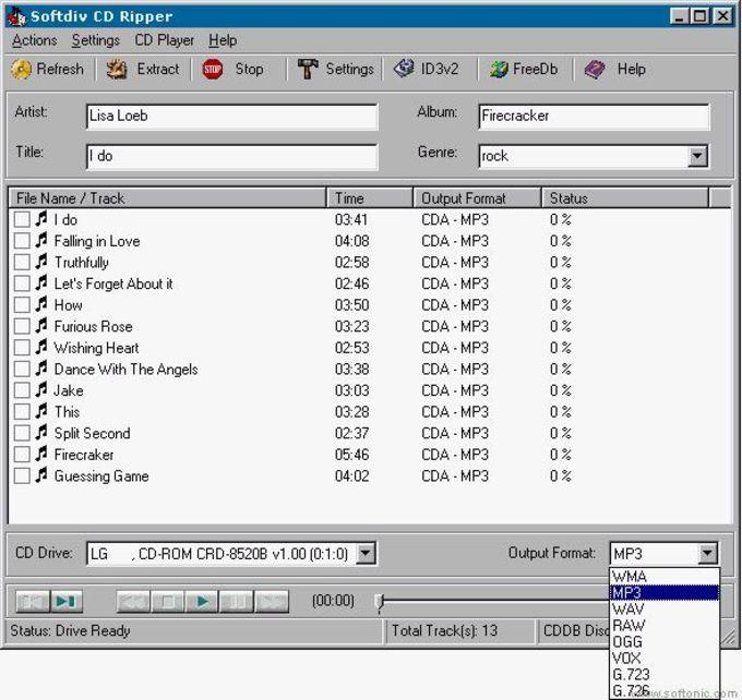 Softdiv CD Ripper
