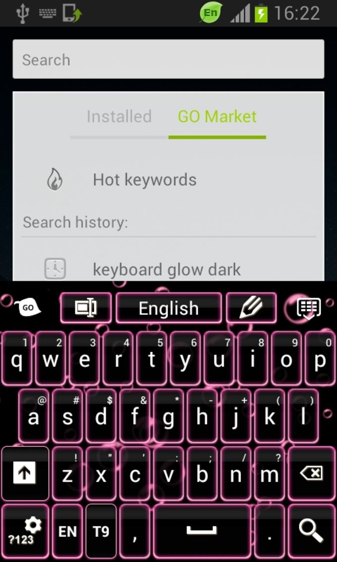 Keyboard Color Neon Pink
