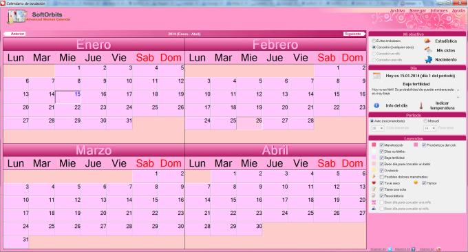 Calendario de ovulación