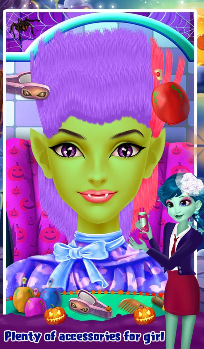 Halloween Girl Hair Salon
