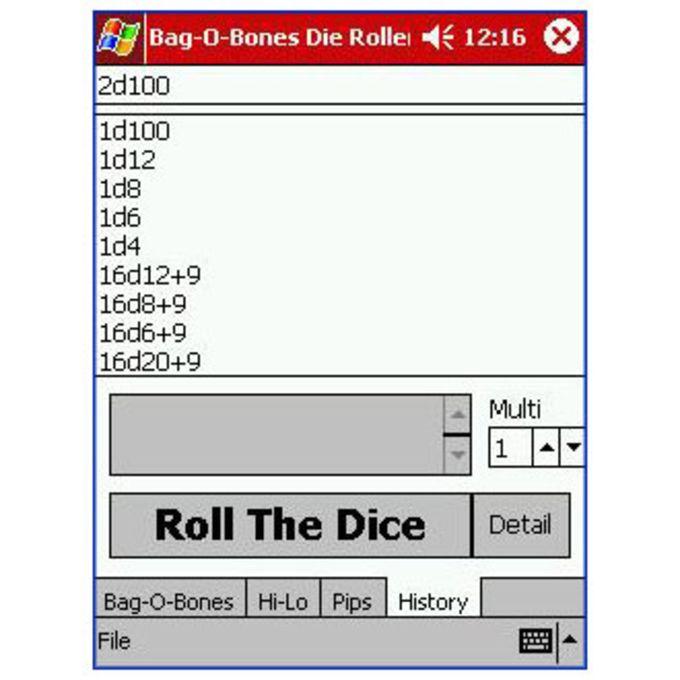 Bag O' Bones Dice Roller