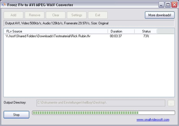 Freez FLV to AVI/MPEG/WMV Converter
