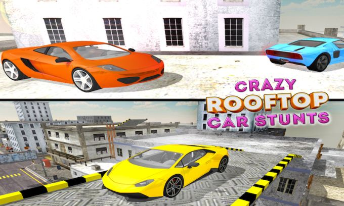 Crazy Roof Top Car Stunts 3D