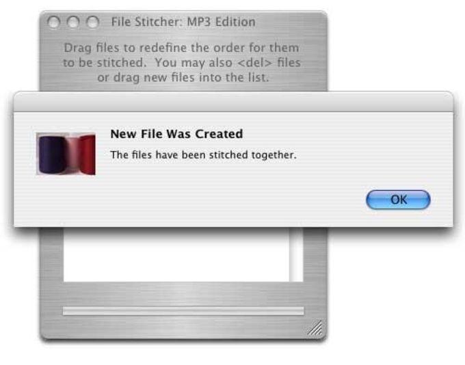 File Stitcher MP3 Edition
