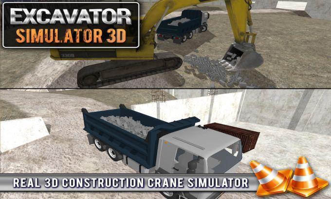 Excavator Crane Simulator 3D