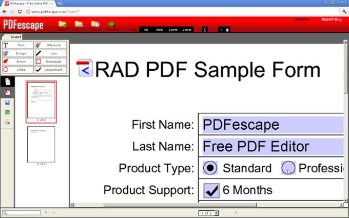 PDFescape Free PDF Editor