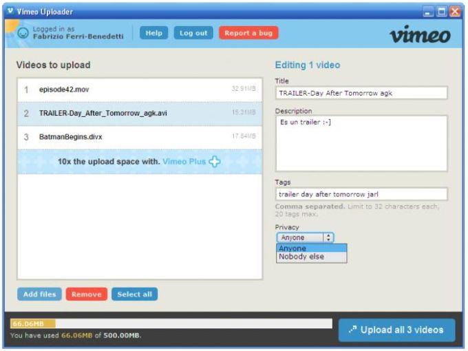Vimeo Desktop Uploader