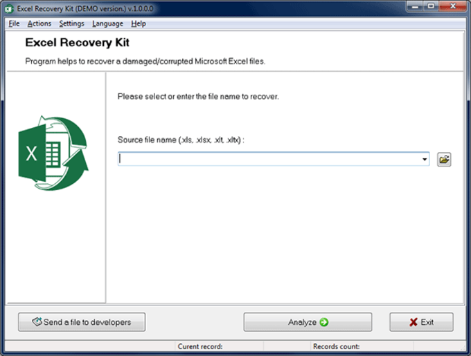 Excel Recovery Kit